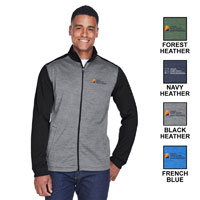 MEN'S MELANGE FLEECE FULL-ZIP