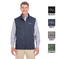 MEN'S MELANGE FLEECE VEST