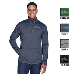 MEN'S DEVON & JONES FLEECE QUARTER-ZIP