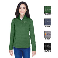 LADIES DEVON & JONES FLEECE QUARTER-ZIP