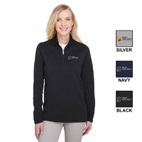 LADIES COASTAL PIQUE FLEECE 1/4 ZIP